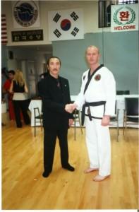 Martin Paradine with Grand Master Cho