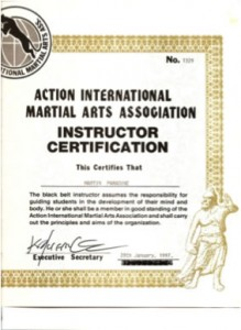 Martin Paradine Certificate