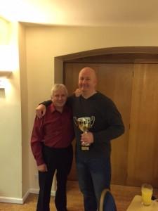 Master Harrison and Mr Paradine celebrating 30 years